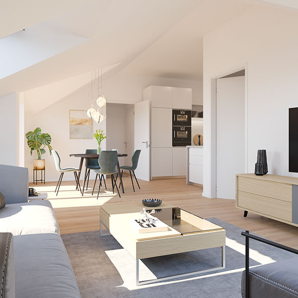 Dachgeschoss-Wohnung Düsseldorf Mörsenbroich