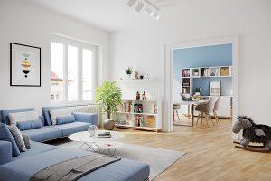 Architekturvisualisierung Wohnbereich