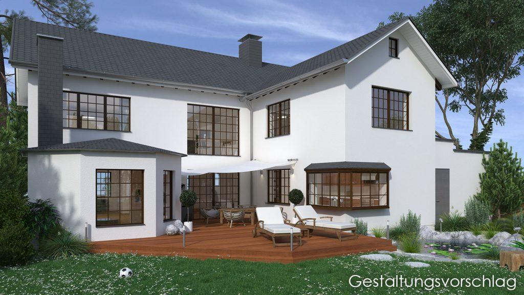 Gestaltungsvorschlag Einfamilienhaus Hilden