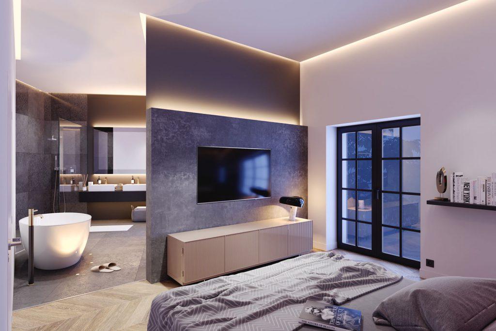 En-Suite Bad - Exklusive Wohnung
