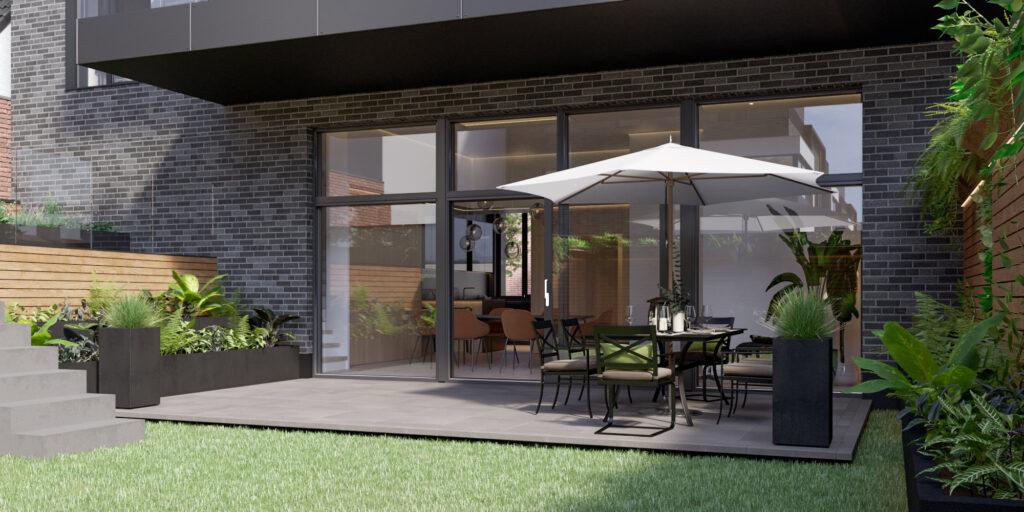 Gartenwohnung Terrasse