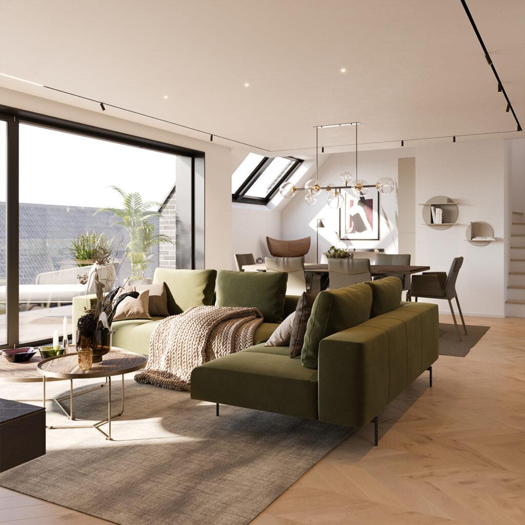 Neubau Dachgeschosswohnung Düsseldorf Heerdt